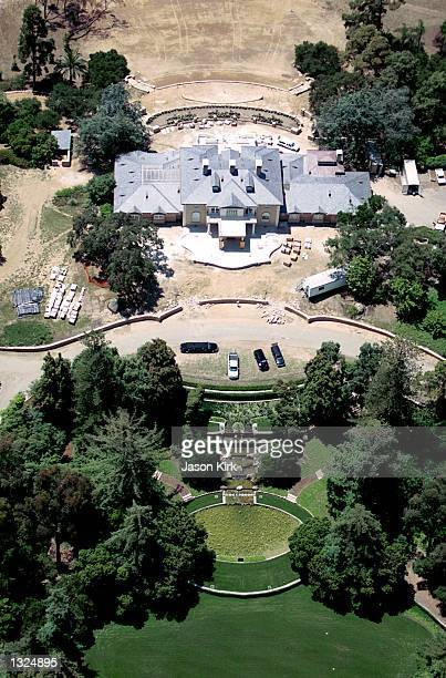 The new home of talk show host Oprah Winfrey as seen from the air June 22 2001 in Montecito CA It has been reported that Winfrey purchased the 42acre...