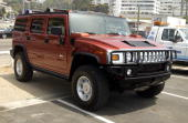 The new Hummer H2 during Movieline 'Beauty on the Beach' Party at Gladstone's Malibu in Malibu California United States