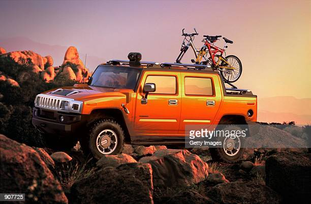 The new Hummer H2 is displayed in this publicity photo The car was introduced to the media January 7 2001 at the North American International Auto...