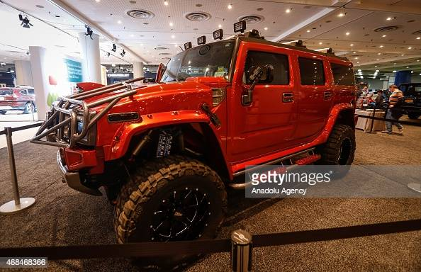 The new Hummer is displayed at the 2015 New York International Auto Show in New York USA on April 02 2015