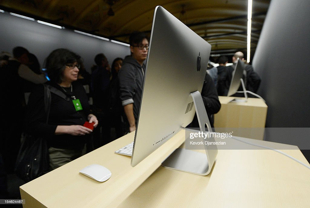 The new iMac is on display after it was unveiled during an Apple special event at the historic California Theater on October 23, 2012 in San Jose, California. Apple introduced the new iPad mini at the event, Apple's smaller 7.9 inch version of the iPad tablet.
