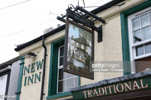 The New Inn public House on Myrtle Road in Sutton south London where a 28yearold man was fatally wounded yesterday evening