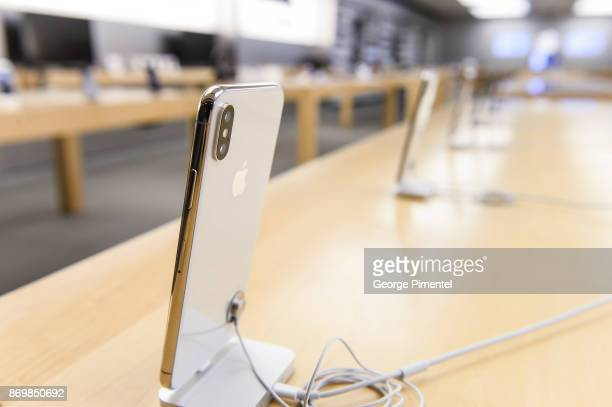 The new iPhone X at Apple Store Eaton Centre on November 3 2017 in Toronto Canada