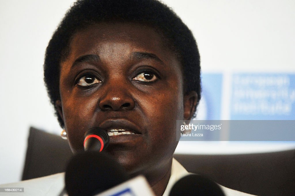 The new Italian Minister for Integration Cécile Kyenge speaks during The State of Union conference on May 9, 2013 in Florence, Italy. Italy's first black minister Cécile Kyenge has been herself the subject of many racist attacks in Italy. Academic, business and political leaders are taking part in the annual conference which lasts through May 10th, debating various EU policies and institutions.