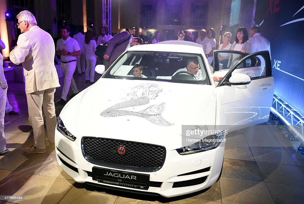 The new Jaguar XE during the Jaguar White Night at Wandelhalle Bad Wiessee on June 20 2015 in Bad Wiessee Germany
