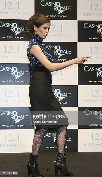 The new James Bond girl Eva Green attends a press conference promoting the 21st Bond film 'Casino Royale ' October 17 2006 in Tokyo Japan The film...