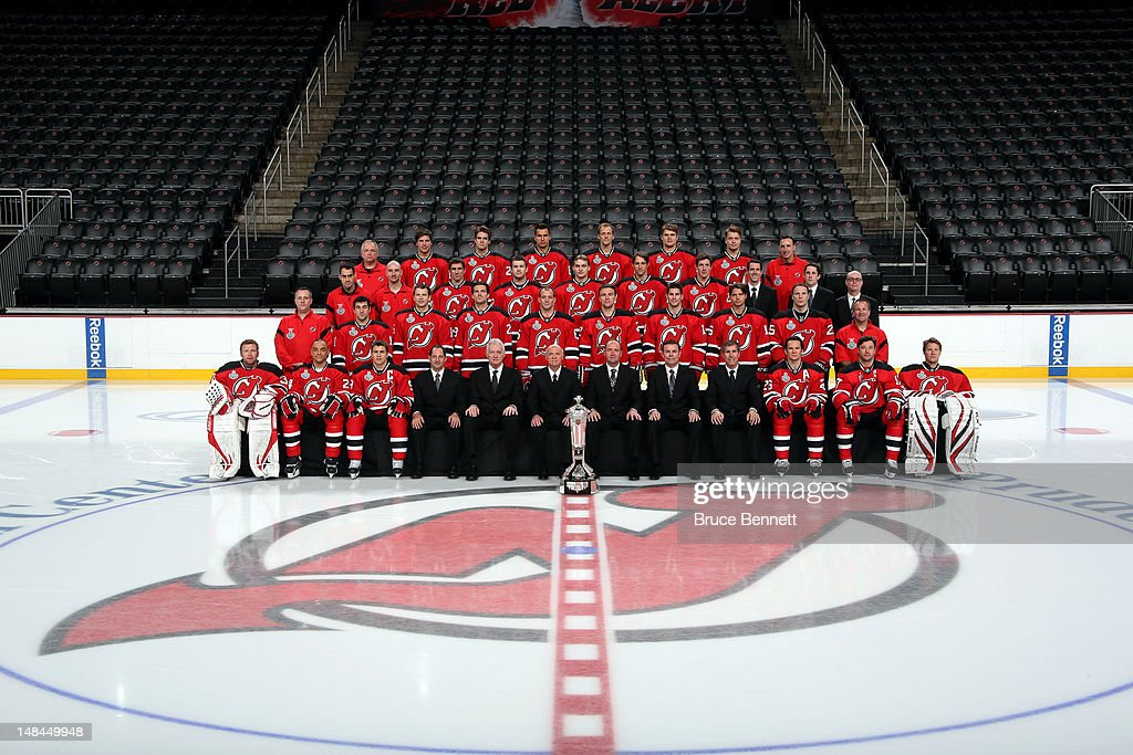 The New Jersey Devils pose for their official team photograph on June 16, 2012 at the Prudential Center in Newark, New Jersey.