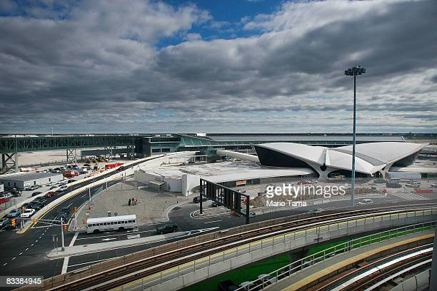 The new JetBlue terminal is seen at John F Kennedy International Airport on its first official day of operation October 22 2008 the Queens borough of...