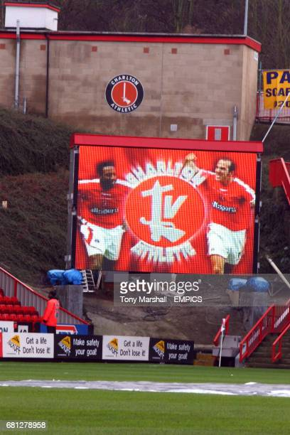 The new Jumbotron screen at the Valley home of Charlton Athletic