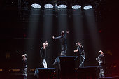The New Kids On The Block perform in concert at Madison Square Garden on June 21 2015 in New York City