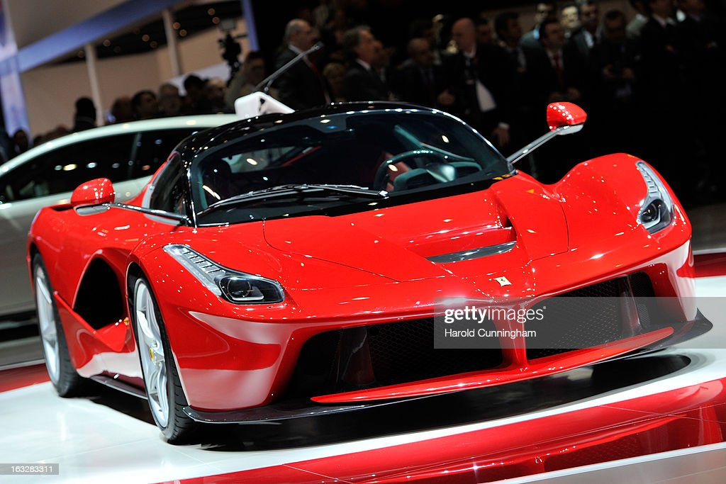 The new La Ferrari hybrid is unveiled in world premiere during the 83rd Geneva Motor Show on March 5, 2013 in Geneva, Switzerland. Held annually with more than 130 product premiers from the auto industry unveiled this year, the Geneva Motor Show is one of the world's five most important auto shows.