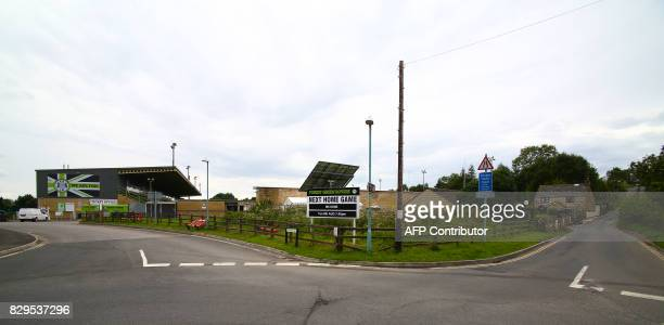 The New Lawn Stadium the home football ground of Forest Green Rovers is pictured in Nailsworth western England on August 8 ahead of the EFL Cup...
