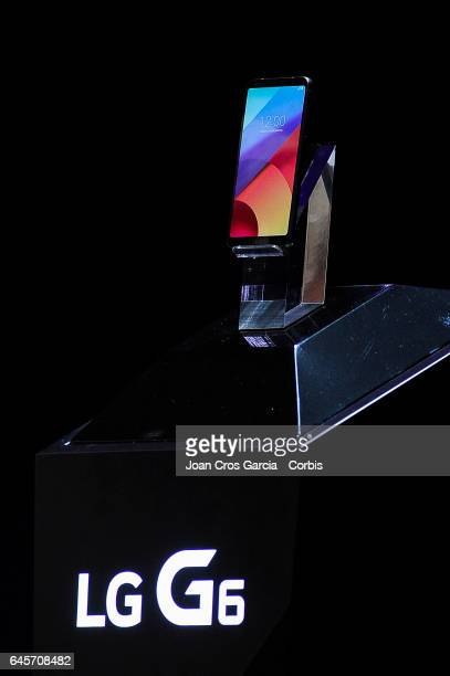 The new LG device G6 is displayed during the LG G6 launch during the Mobile World Congress on February 26 2017 in Barcelona Spain