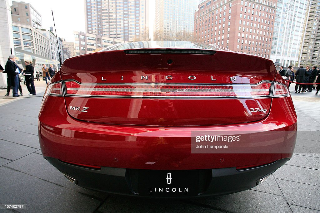 The new Lincoln MKZ is on display at the Ford Lincoln Unveils New Brand Direction Lincoln With Emmitt Smith at Lincoln Center on December 3, 2012 in New York City.