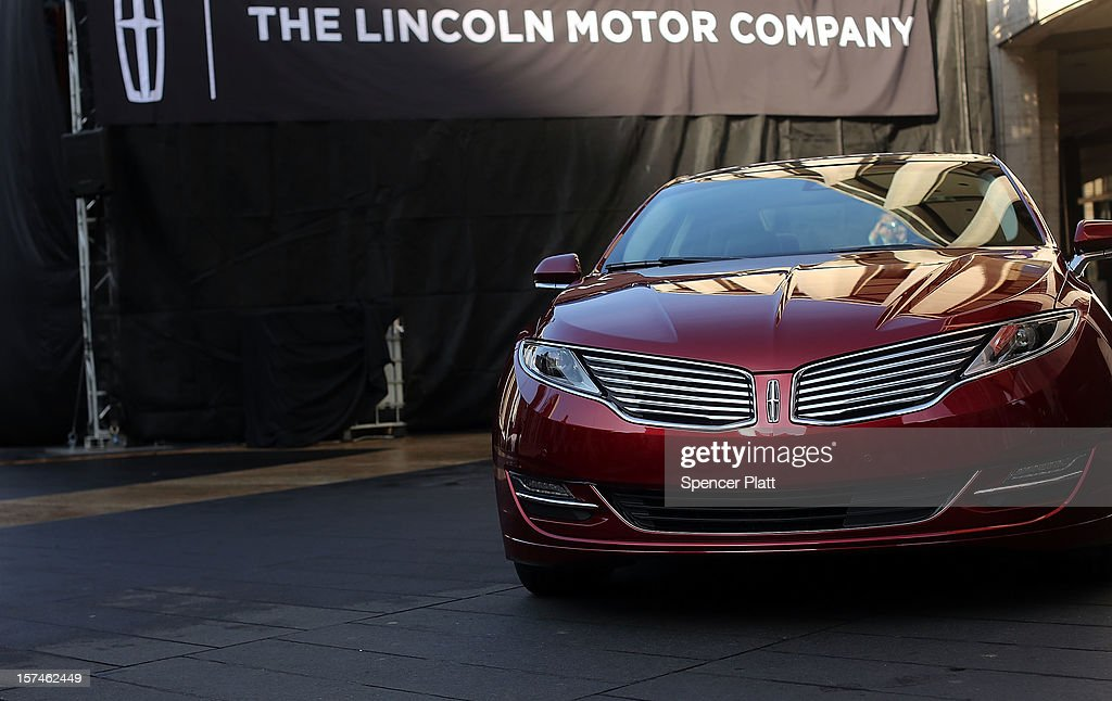 The new Lincoln Motor Company MKZ sedan at a media launch on December 3, 2012 in New York City. Ford is renaming its Lincoln division as the Lincoln Motor Co., as it looks to revive the luxury brand. The MKZ will arrive at dealerships later this month and will start at $35,925. The MKZ is the first of seven new Lincoln's that will go on sale by 2015.