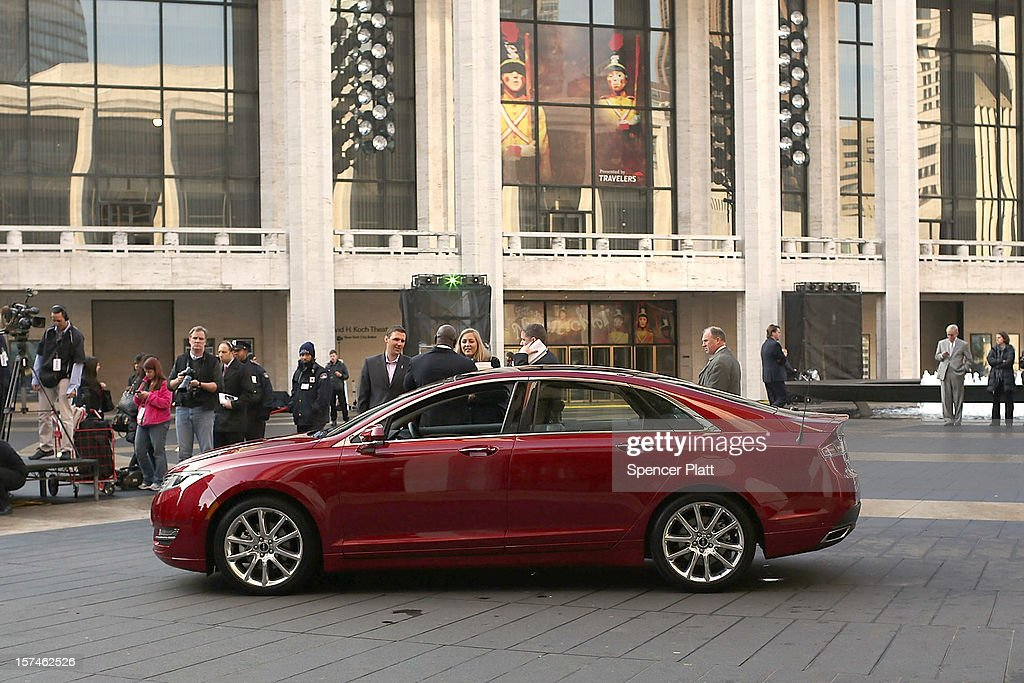 The new Lincoln Motor Company MKZ sedan is seen at a media launch in front of Avery Fisher Hall, Lincoln Center Plaza on December 3, 2012 in New York City. Ford is renaming its Lincoln division as the Lincoln Motor Co., as it looks to revive the luxury brand. The MKZ will arrive at dealerships later this month and will start at $35,925. The MKZ is the first of seven new Lincoln's that will go on sale by 2015.
