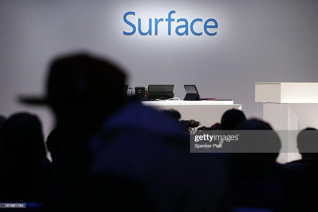 The new line-up of second generation Surface tablets is launched on September 23, 2013 in New York City.The new Surface family includes two products, Surface 2 and Surface Pro 2. Improvements on the tablets include better battery life, faster processors and Dolby Digital sound. The new devices will be in stores on Oct. 22.