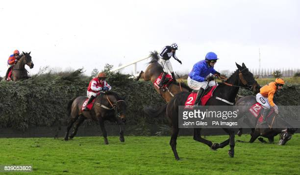 The new look Bechers Brook fence claims Abbeybraney and Aidan Coleman with Shalimar Fromento and James Reveley also falling as eventual winner West...