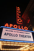 The new marquee at the Apollo Theater in Harlem NY The Apollo is being totally renovated The marquee is now digital but the type font is similar to...
