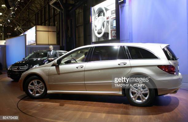 The new Mercedes RClass Grand Sports Tourer is rolled out during the 2005 New York Auto Show at the Jacob Javits Convention Center in New York 23...