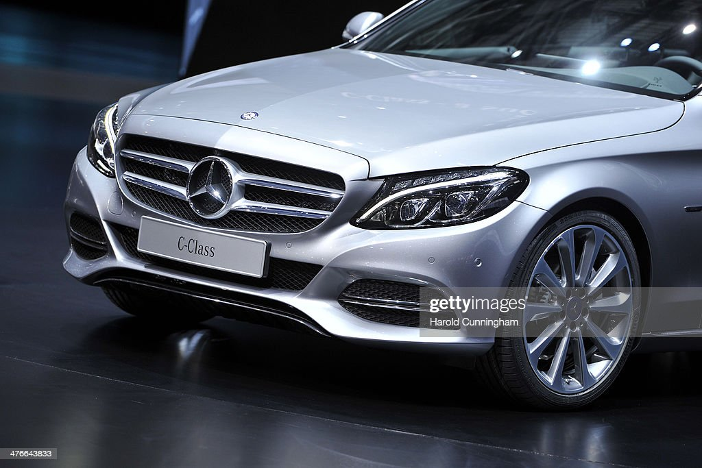 The new MercedesBenz CClass is presesented during the press day of the 84th International Motor Show which will showcase novelties of the car...