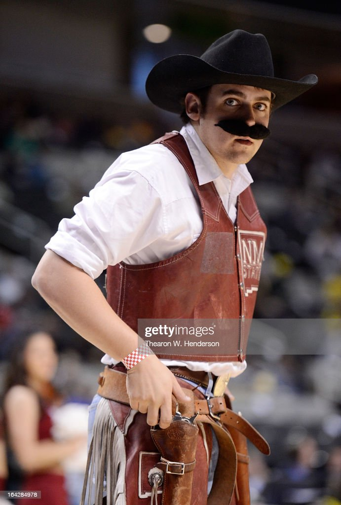 The New Mexico State Aggies mascot performs in the first half against the Saint Louis Billikens during the second round of the 2013 NCAA Men's Basketball Tournament at HP Pavilion on March 21, 2013 in San Jose, California.