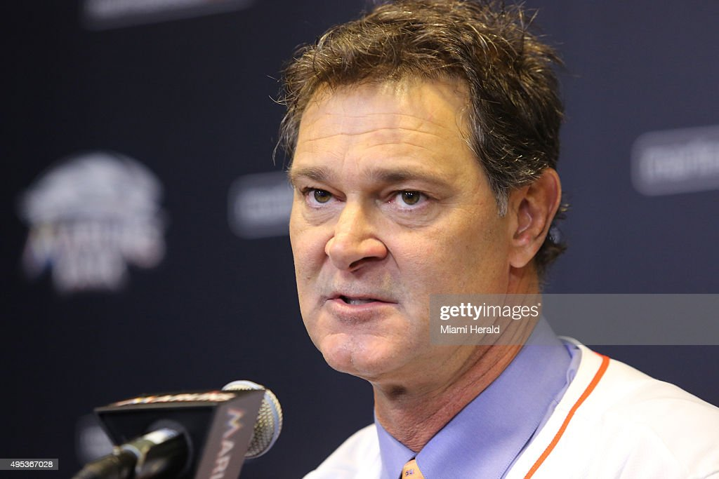 The new Miami Marlins manager Don Mattingly talks to the media on Nov 2 2015 during a press event in Miami