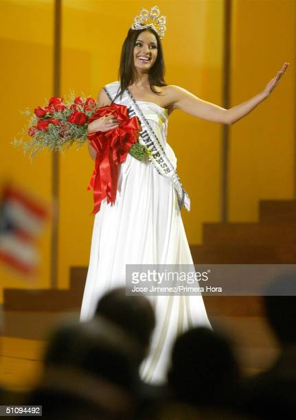The New Miss Universe Oxana Fedorova Of Russia Waves To The Audience During The 51St Annual Miss Universe Competition At The Roberto Clemente...