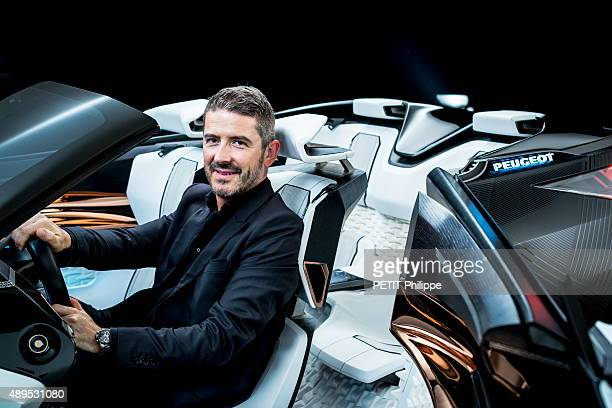 The new model Peugeot Fractal car and Gilles VidalDirector of Style at Peugeot on august 25 2015 in France