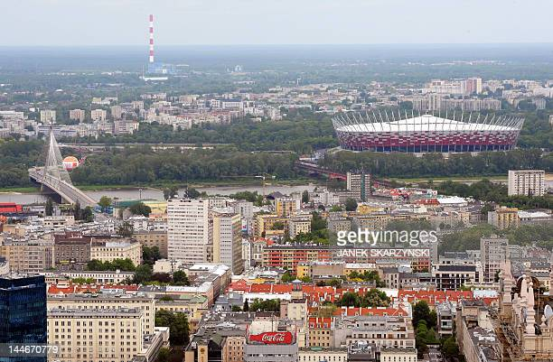 The new national stadium built for the EURO 2012 is pictured ahead of the upcoming football championship in Warsaw May 17 2012 Euro 2012 cohost...