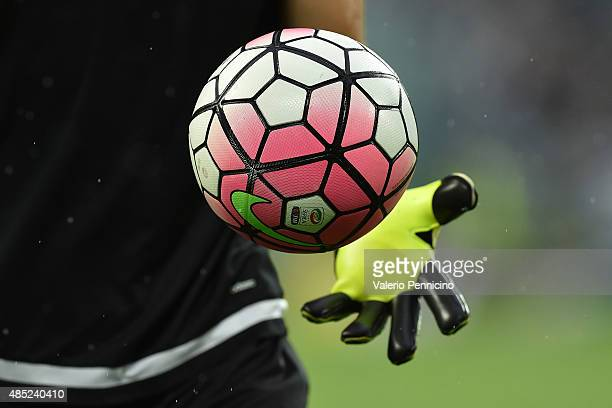The new Nike ball for the 2015/16 Serie A season during the Serie A match between Juventus FC and Udinese Calcio at Juventus Arena on August 23 2015...