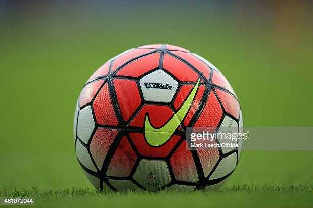 The new Nike Ordem football for the 2015/16 Premier League season during the UEFA Europa League second qualifying round match between West Ham and FC...