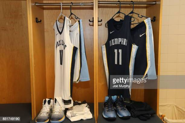 The new Nike uniform of Mike Conley of the Memphis Grizzlies on August 7 2015 at FedExForum in Memphis Tennessee NOTE TO USER User expressly...