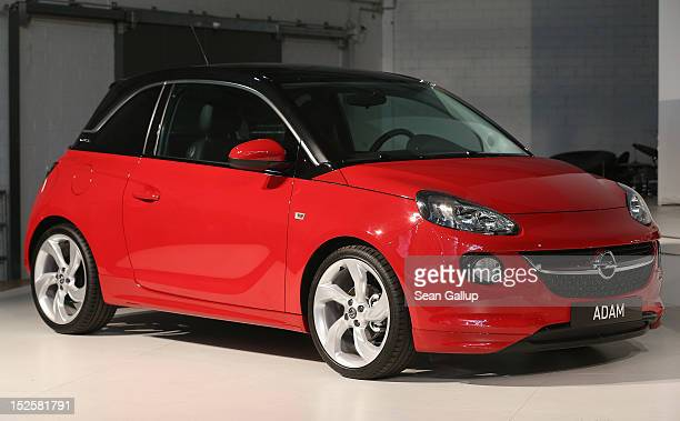 The new Opel Adam car stands on display at a celebration marking Opel's 150th anniversary at the Opel Insignia and Astra factory on September 22 2012...