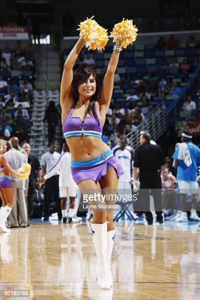 The New Orleans Hornets dance team performs during the preseason game against the Oklahoma City Thunder on October 10 2009 at the New Orleans Arena...