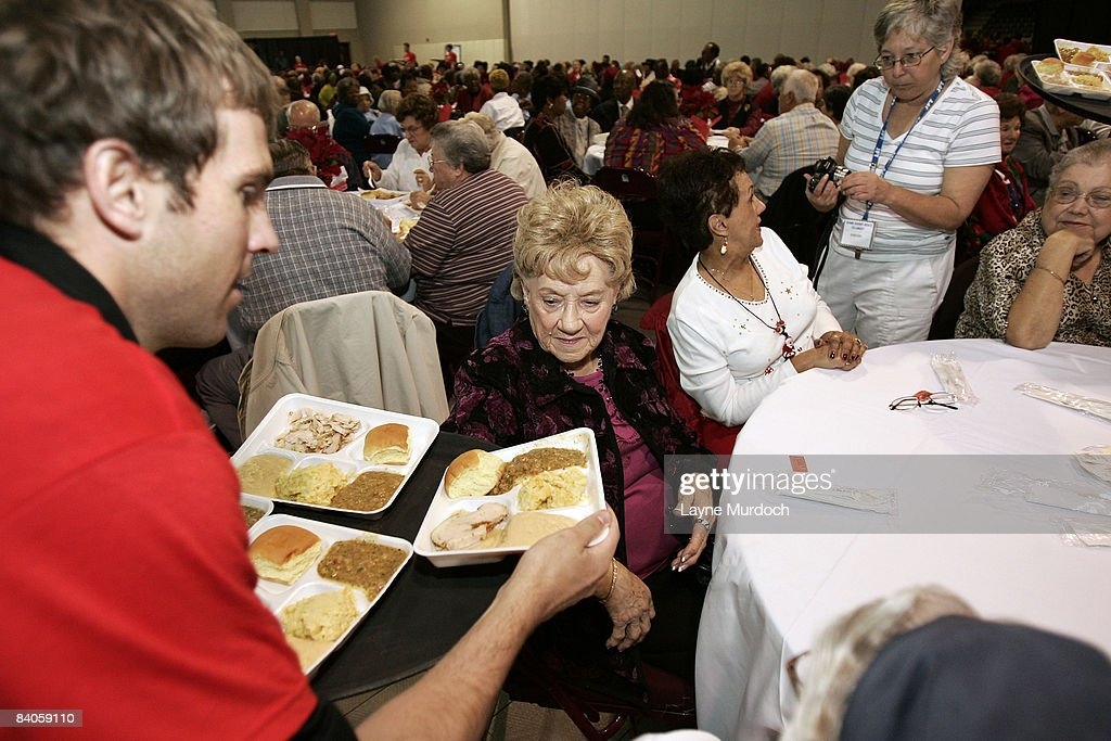 The New Orleans Hornets host an annual senior Christmas luncheon as part of the team's Season of Giving at the Alario Center December 16, 2008 in Westwego, Louisiana.