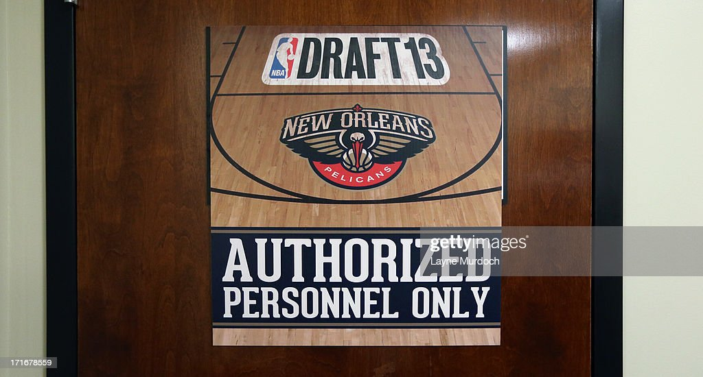 The New Orleans Pelicans War room during the 2013 NBA draft on June 27, 2013 at the New Orleans Pelicans facility in Metairie, Louisiana.