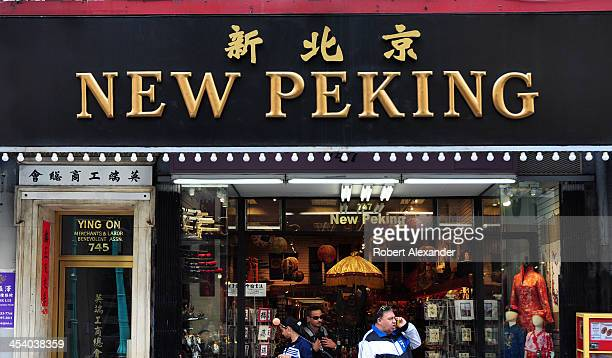 The New Peking store is among the numerous shops catering to tourists along Grant Avenue in San Francisco's Chinatown