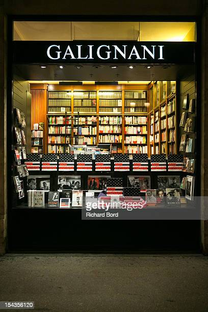 The new Philippe Labro's Book 'Mon Amerique' is seen in the storefront at Librairie Galignani on October 18 2012 in Paris France