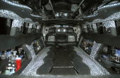 The new Playboy 2004 Hummer H2 Custom limo interior outside Bliss January 2 2004 in Beverly Hills California