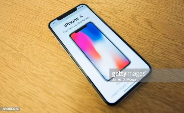 The new product for the Australian release of the iPhone X at Apple Store on November 3 2017 in Sydney Australia Apple's latest iPhone features face...