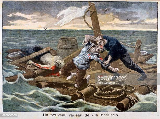 The new 'Raft of the Medusa' 1899 An illustration from Le Petit Journal 17th September 1899