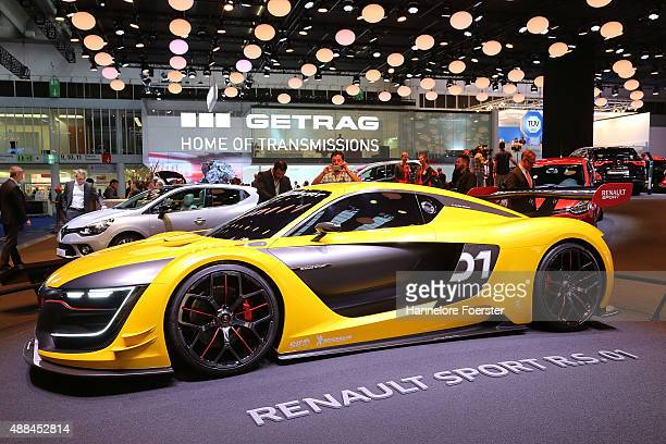 The new Renault Sport RS 01 stands at the Renault stand at the 2015 IAA Frankfurt Auto Show during a press day on September 16 2015 in Frankfurt...