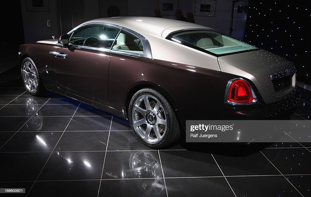 The new Rolls Royce Wraith is displayed in German premiere at 'Procar-Automobile' on May 11, 2013 in Cologne, Germany.