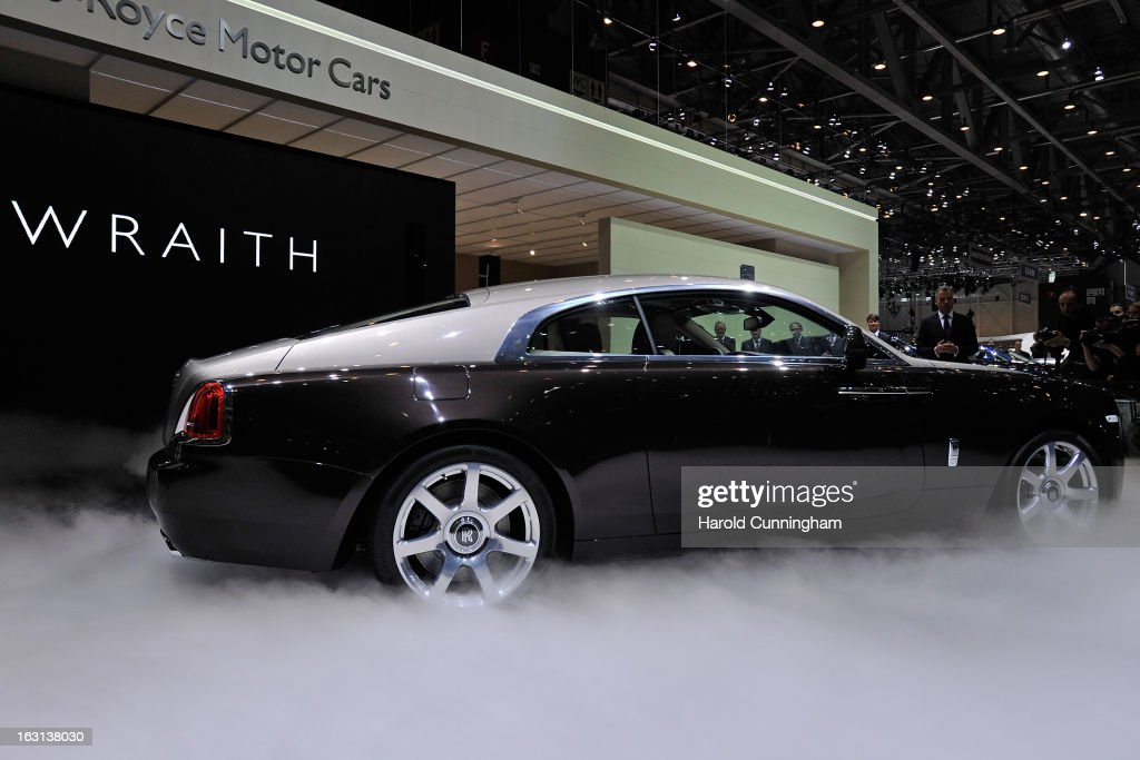 The new Rolls-Royce Wraith is unveiled in World premiere during the 83rd Geneva Motor Show on March 5, 2013 in Geneva, Switzerland. Held annually the Geneva Motor Show is one of the world's five most important auto shows with this year's event due to unveil more than 130 new products.