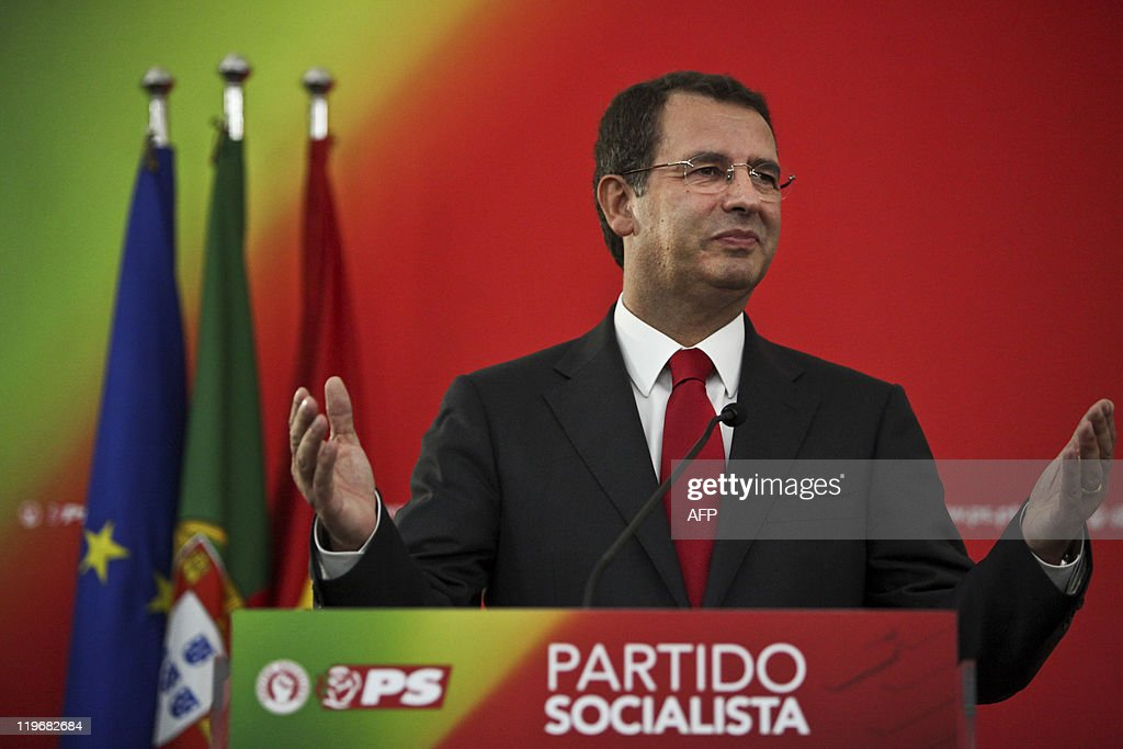 The new secretarygeneral of the Socialist party Jose Antonio Seguro speaks to his supporters after winning the elections against his opponent...