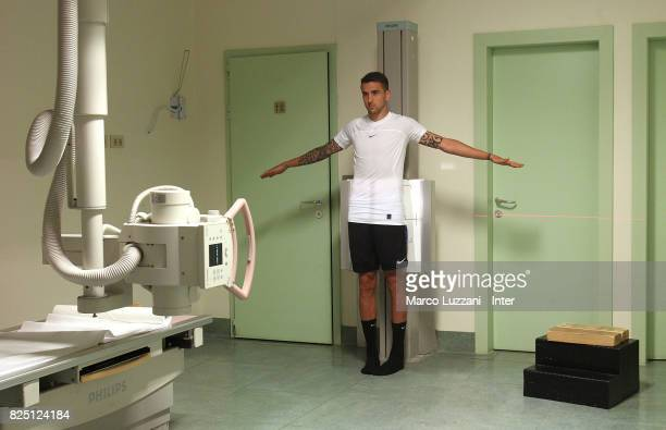 The new signing of FC Internazionale Milano Matias Vecino during a medical examination at Humanitas Hospital on August 1 2017 in Milan Italy