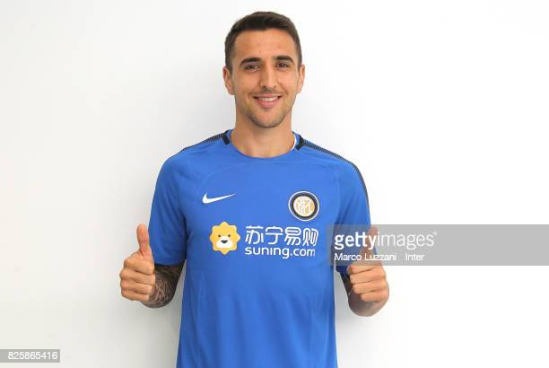 The new signing of FC Internazionale Milano Matias Vecino poses at Humanitas Hospital on August 1 2017 in Milan Italy