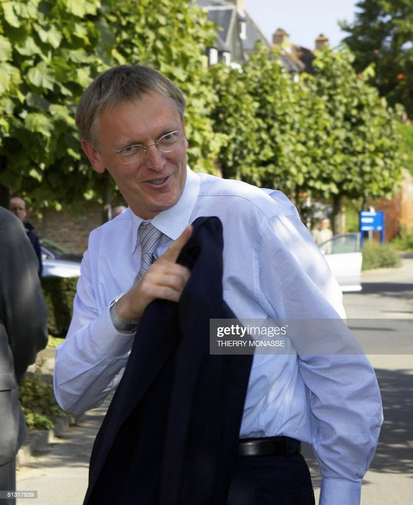 The new slovenian EU Commissioner for Science and Researcht Janez Potocnik arrives at an informal meeting with the other new Commissioners in Leuven...