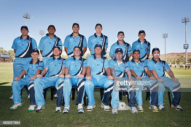 The New South Wales team pose for a team photo during the 20415 Imparja Cup on February 9 2015 in Alice Springs Australia